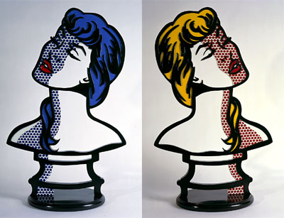 a roy lichtenstein or tired of fighting you in German counte